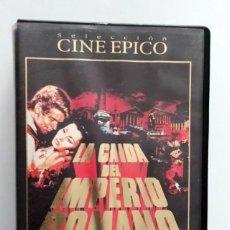 Cine: DOBLE VHS EDICIÓN ESPECIAL LA CAÍDA DEL IMPERIO ROMANO - SOPHIA LOREN. Lote 269340973