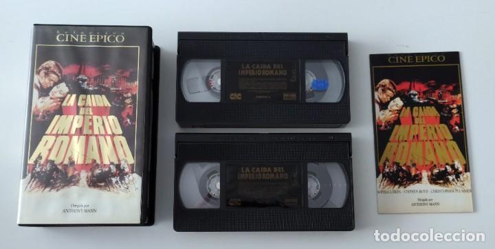 Cine: DOBLE VHS EDICIÓN ESPECIAL LA CAÍDA DEL IMPERIO ROMANO - SOPHIA LOREN - Foto 2 - 269340973