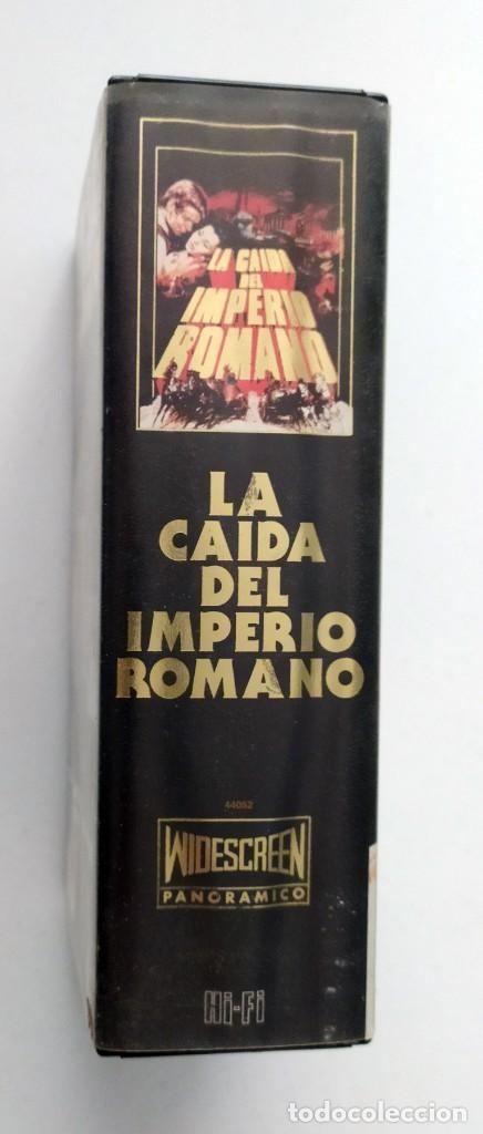 Cine: DOBLE VHS EDICIÓN ESPECIAL LA CAÍDA DEL IMPERIO ROMANO - SOPHIA LOREN - Foto 3 - 269340973