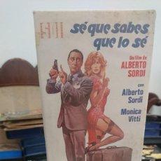 Cine: SÉ QUE SABES QUE LO SÉ - ALBERTO SORDI - MONICA VITTI - SDI 1985. Lote 269391783