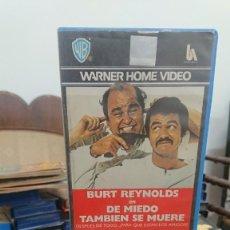 Cine: DE MIEDO TAMBIEN SE MUERE - BURT REYNOLDS - DOM DELUISE , SALLY FIELD - WARNER 1987. Lote 269398313