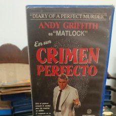 Cine: CRIMEN PERFECTO - ROBERT DAY - ANDY GRIFFITH , LORI LETHIN - CONTINENTAL VIDEO. Lote 269398588