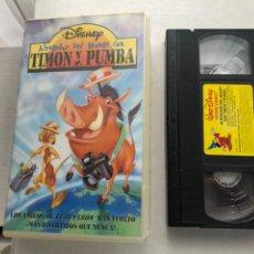 Cine: TIMON Y PUMBA ALREDEDOR DEL MUNDO DISNEY - VHS KREATEN. Lote 269715603