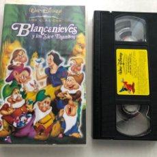 Cine: BLANCANIEVES Y LOS SIETE ENANITOS WALT DISNEY CLASICOS - VHS KREATEN. Lote 269716833