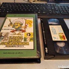 Cine: VHS- EL FASCISTA, LA BEATA Y SU HIJA DESVIRGADA- JOSE LUIS LOPEZ VAZQUEZ- VIDEO ESPAÑA VHS-. Lote 269733798