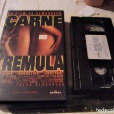 Cine: VHS- CARNE TREMULA- PEDRO ALMODOVAR JAVIER BARDEM VHS- CARNE TREMULA- PEDRO ALMODOVAR JAVIER BARDE. Lote 269979273
