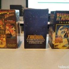 Cine: TRILOGIAS ( GUERRA GALAXIAS - INDIANA JONES - REGRESO AL FUTURO ) EN ERFECTAS CONDIONES - VHS. Lote 269981473