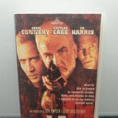 Cine: LA ROCA. VHS. SEAN CONNERY, NICOLAS CAGE, ED HARRIS, MICHAEL BIEHN, DAVID MORSE, MICHAEL BAY. Lote 269985163