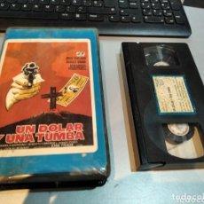 Cine: VHS - UN DOLAR Y UNA TUMBA. JOHN IRELAND - ROBERT WOOD. - UNICA EN TC VHS. Lote 270163063