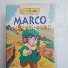 Cine: MARCO DE LOS APENINOS A LOS ANDES. VHS. PELÍCULA DE ANIMACIÓN (ENVÍO 2,50€). Lote 267419574