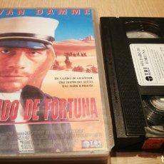 Cine: SOLDADO DE FORTUNA - VAN DAMME - VHS CARÁTULA GRANDE. Lote 270374813