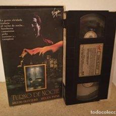 Cine: TURNO DE NOCHE VHS - CLASICO VAMPIRICO OCHENTERO ¡¡UNICO EN TODOCOLECCION!!. Lote 270375068
