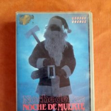 Cine: NOCHE DE PAZ, NOCHE DE MUERTE • TERROR • VHS. Lote 273759148