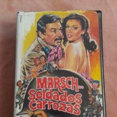 Cine: MARSCH SOLDADOS CARROZAS • RENZO MONTAGNANI, ANNA Mª RIZZOLI • VHS. Lote 275624043