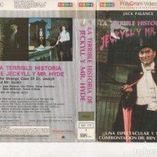 Cinema: VHS - LA TERRIBLE HISTORIA DE JECKYLL Y MR. HYDE - JACK PALANCE. Lote 275959273