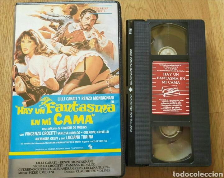 HAY UN FANTASMA EN MI CAMA VHS LILI CARATI (Cine - Películas - VHS)