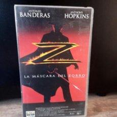 Cine: VHS. LA MÁSCARA DEL ZORRO. ANTONIO BANDERAS. ANTHONY HOPKINS. 1998. Lote 277759568