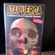 Cine: ATAPUERCA - VHS - MISTERIO EVOLUCION HUMANA - EDICIONES DIVISA. Lote 277760543