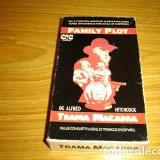 Cine: FAMILY PLOT TRAMA MACABRA VHS ARGENTINA ALFRED HITCHCOCK. Lote 279794658