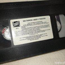 Cine: MÍA FARROW, AMOR Y TRAICIÓN, (1995) VHS DE VIDEOCLUB CERRADO MAS DOS DÉCADAS. (SIN CARATULA) , ÑZ.. Lote 287804338