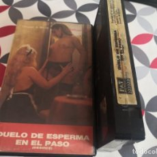 Cine: VHS - DUELO DE ESPERMA EN EL PASO RAREZA. Lote 288179553