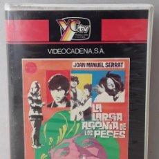 Cine: LA LARGA AGONIA DE DE LOS PECES (JOAN MANUEL SERRAT)(1970)(VHS) - USADO (PROCEDENTE DE VIDEOCLUB). Lote 288586528