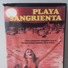 Cine: PLAYA SANGRIENTA (1981)(VHS) - USADO (PROCEDENTE DE VIDEOCLUB). Lote 288586548