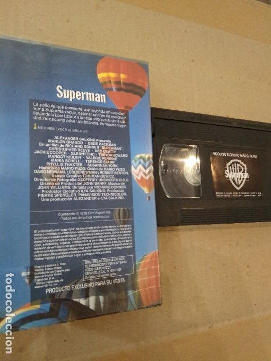 Cine: PELICULA VHS ~ SUPERMAN ~ ( AÑO 1988 ) , VER FOTOS - Foto 2 - 288606328