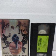 Cine: VHS\. CRONICA DE UN ATRACO • TOMAS MILIAN, ANITA EKBERG, FERNANDO SANCHO • VIDEO CLUB. Lote 288684468
