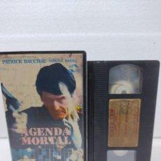 Cine: AGENDA MORTAL - PATRICK BAUCHAU, SIMONE BARRY - VHS VIDEO CLUB. Lote 288686258