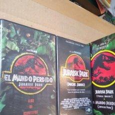 Cine: 2 PELICULAS ( PACK ) VHS ~ JURASSIC PARK Y EL MUNDO PERDIDO ~ ( AÑO 1998 ) , VER FOTOS. Lote 288686313