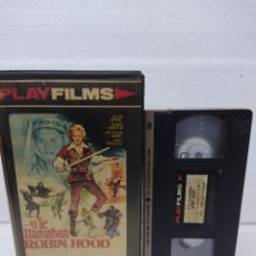 Cine: PELICULA VHS Y LE LLAMABAN ROBIN HOOD ALAN STEEL / VICTORIA ABRIL VHS VIDEO CLUB. Lote 288689608