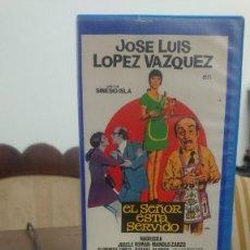 Cine: EL SEÑOR ESTA SERVIDO (1ª EDICION) - SINESIO ISLA - LOPEZ VAZQUEZ , NADIUSKA - RYMSA 1984. Lote 288946203