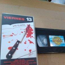 Cine: PELICULA VHS ~ VIERNES 13 ~ ( AÑO 1992 ) , VER FOTOS. Lote 289491913