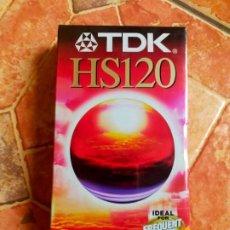Cine: ANTIGUA CINTA VHS VÍDEO TDK HS120 - VIRGEN SIN USAR - EN SU ENVOLTORIO. Lote 289518563