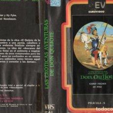 """Cine: VHS - LAS EROTICAS AVENTURAS DE DON QUIJOTE - CLASIFICADA """" S """". Lote 289873278"""