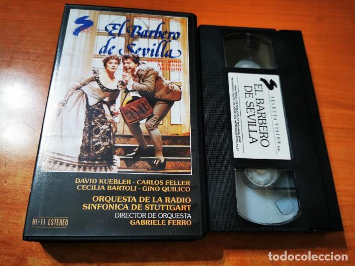 EL BARBERO DE SEVILLA VHS 1988 ESPAÑA OPERA ROSSINI DAVID KUEBLER CARLOS FELLER CECILIA BARTOLI (Cine - Películas - VHS)