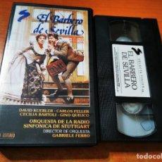 Cine: EL BARBERO DE SEVILLA VHS 1988 ESPAÑA OPERA ROSSINI DAVID KUEBLER CARLOS FELLER CECILIA BARTOLI. Lote 289892288