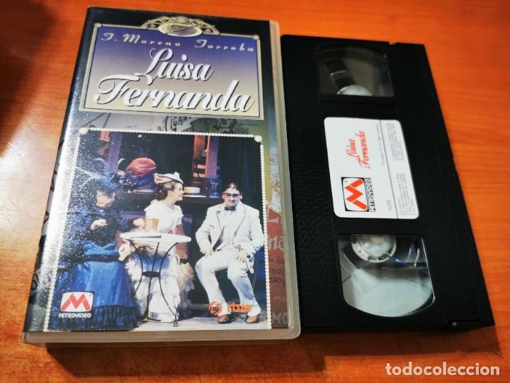 LUISA FERNANDA VHS 1996 ESPAÑA ZARZUELA TEATRO CALDERON MADRID MARIA RODRIGUEZ RAFAEL LLEDO (Cine - Películas - VHS)
