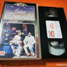 Cine: LUISA FERNANDA VHS 1996 ESPAÑA ZARZUELA TEATRO CALDERON MADRID MARIA RODRIGUEZ RAFAEL LLEDO. Lote 289894188