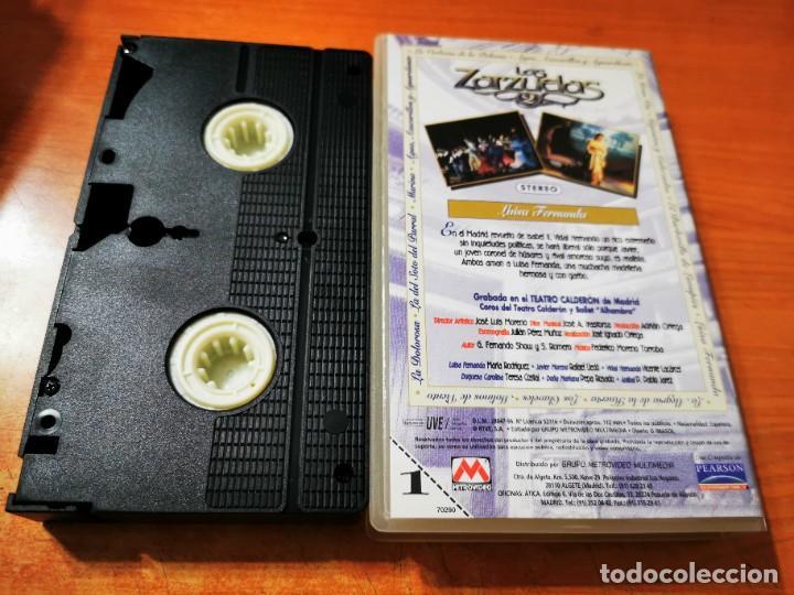 Cine: LUISA FERNANDA VHS 1996 ESPAÑA ZARZUELA TEATRO CALDERON MADRID MARIA RODRIGUEZ RAFAEL LLEDO - Foto 2 - 289894188