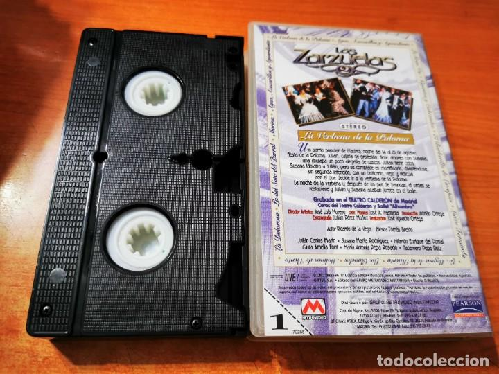 Cine: LA VERBENA DE LA PALOMA VHS 1996 ESPAÑA ZARZUELA TEATRO CALDERON MADRID JULIAN CARLOS MARIN - Foto 2 - 289894643
