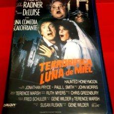 Cine: TERRORIFICA LUNA DE MIEL (1986) - HAUNTED HONEYMOON. Lote 293673433