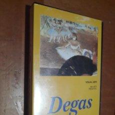 Cine: DEGAS. . DAVID THOMPSON. . VISUAL ARTE. VHS EN BUEN ESTADO. Lote 293674808