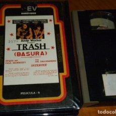 Cine: TRASH / BASURA - ANDY WARHOL, PAUL MORRISSEY, JOE DALLESANDRO - 1ª EDICION EUROVIDEO V.O SUBT - VHS. Lote 294176248
