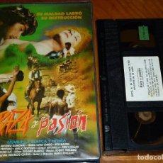 Cine: RAZA Y PASION / ENMANUELLE BLANCA Y NEGRA - MARIO PINZAUTI, MARIA LUISA LONGO - VHS. Lote 294366103