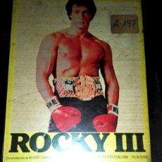 Cine: ROCKY 3 EN VHS. Lote 294527808