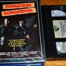 Cine: DONACION SANGRIENTA - ESTHER ROLLE, KENE HOLLIDAY, PAU DOOLEY, LARRY COHEN - TOPACIO - VHS. Lote 295297338