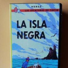 Cine: LA ISLA NEGRA. LAS AVENTURAS DE TINTÍN - HERGÉ. Lote 295342468
