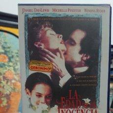 Cine: LA EDAD DE LA INOCENCIA - MARTIN SCORSESE - DANIEL DAY-LEWIS, MICHELLE PFEIFFER - COLUMBIA 1993. Lote 295489383